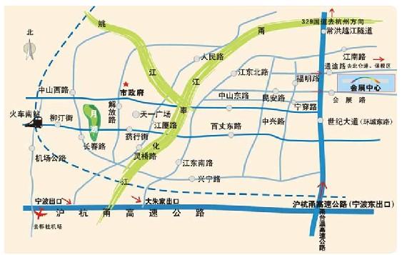 宁波国际会议展览中心交通图